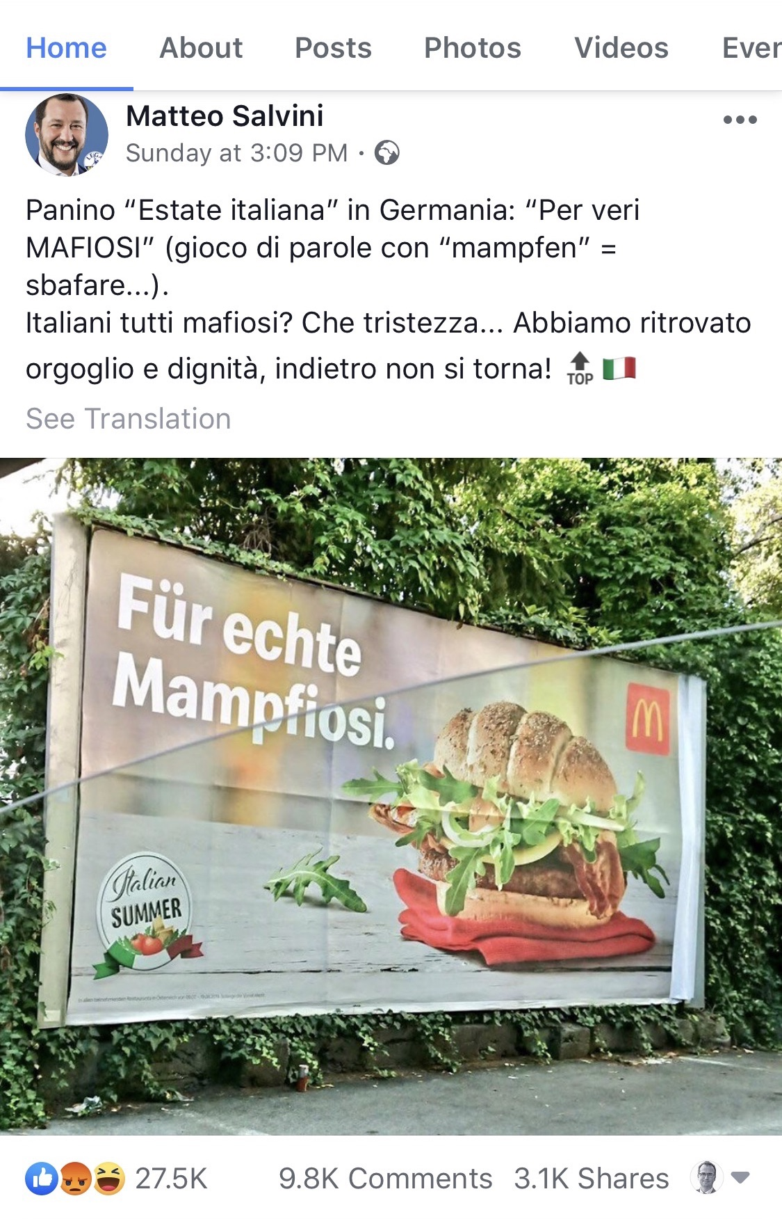 2019 McD Austria Italy